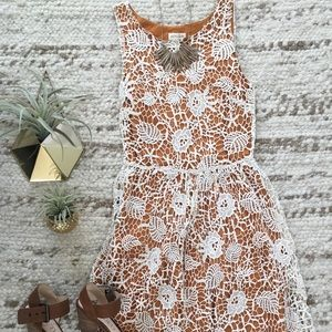 Lace Midi Fit and Flare Dress